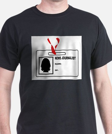 News Journalsit ID Card T-Shirt