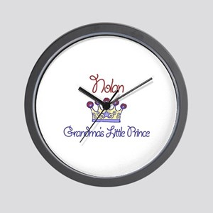 Nolan - Grandma's Little Prin Wall Clock