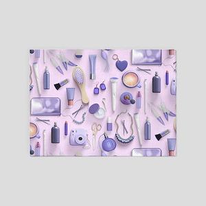 Purple Vanity Table 5'x7'Area Rug
