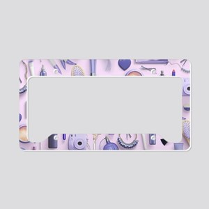 Purple Vanity Table License Plate Holder