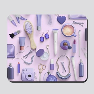 Purple Vanity Table Mousepad
