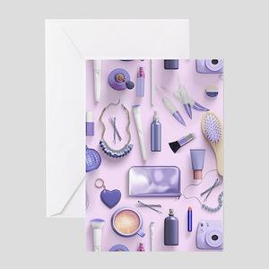 Purple Vanity Table Greeting Card