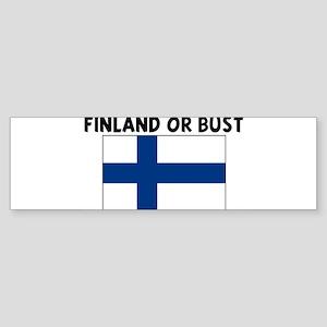 FINLAND OR BUST Bumper Sticker