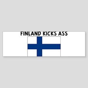 FINLAND KICKS ASS Bumper Sticker