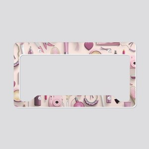 Pink Vanity Table License Plate Holder