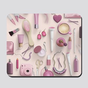Pink Vanity Table Mousepad