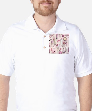 Pink Vanity Table Golf Shirt