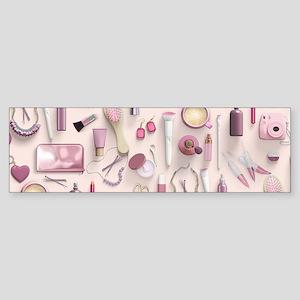 Pink Vanity Table Sticker (Bumper)