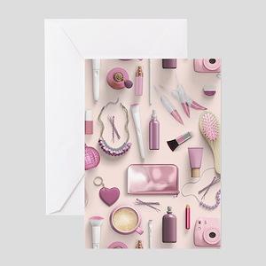 Pink Vanity Table Greeting Card