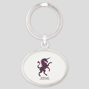 Unicorn-Gilliland.MacLeanDuart Oval Keychain