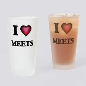 I Love Meets Drinking Glass