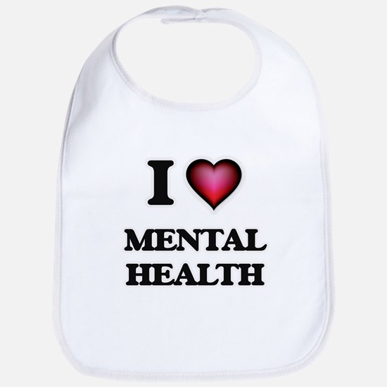 I Love Mental Health Bib