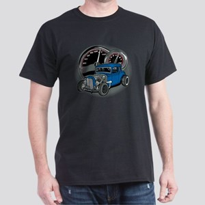 Rat Rod Blue Vintage Hot Rod Dark T-Shirt