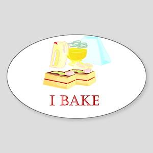 I Bake Cakes Oval Sticker
