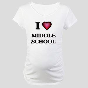 I Love Middle School Maternity T-Shirt