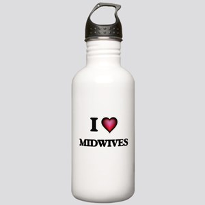 I Love Midwives Stainless Water Bottle 1.0L