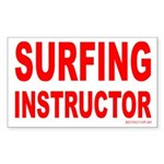 Surfing Instructor Rectangle Sticker
