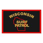 Wisconsin Surf Patrol R Rectangle Sticker