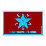 Texas Highwave Patrol Rectangle Sticker