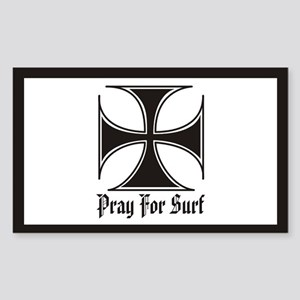 Pray for Surf Rectangle Sticker