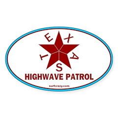Texas Highwave Patrol Oval Decal