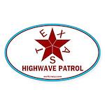 Texas Highwave Patrol Oval Sticker