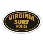 Virginia Surf Police Oval Sticker