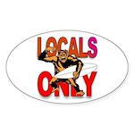 Local Gorilla Oval Sticker
