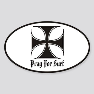 Pray for Surf Oval Sticker