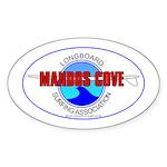 Mandos Cove Surfing Assn. Oval Sticker