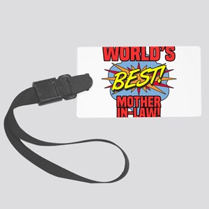World's Best Mother-In-Law Large Luggage Tag