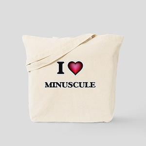 I Love Minuscule Tote Bag