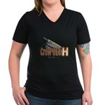 614 H Women's V-Neck Dark T-Shirt
