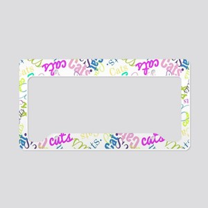 Cats! License Plate Holder