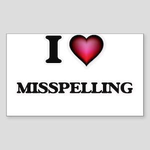 I Love Misspelling Sticker