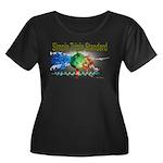 STS Women's Plus Size Scoop Neck Dark T-Shirt