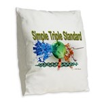STS Burlap Throw Pillow