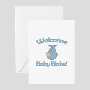 Welcome Baby Blake Greeting Card