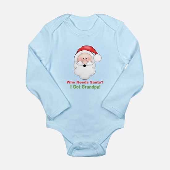 Santa I Got Grandpa Long Sleeve Infant Bodysuit