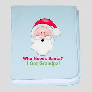 Santa I Got Grandpa baby blanket