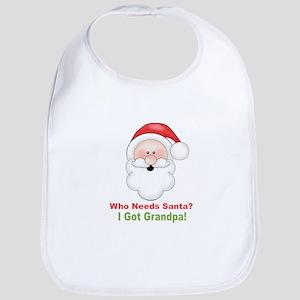 Santa I Got Grandpa Bib