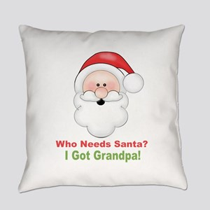 Santa I Got Grandpa Everyday Pillow