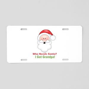 Santa I Got Grandpa Aluminum License Plate