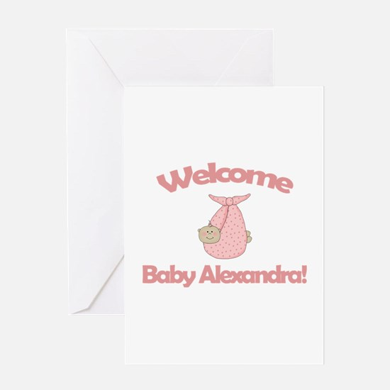 Welcome Baby Alexandra Greeting Card