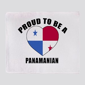 Panama Patriotic Designs Throw Blanket