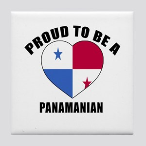 Panama Patriotic Designs Tile Coaster