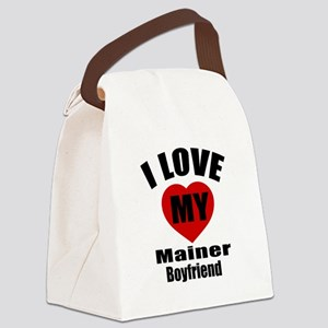 I Love My Maine Boyfriend Canvas Lunch Bag