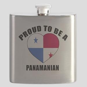 Panama Patriotic Designs Flask
