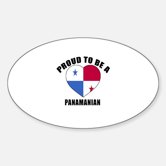 Panama Patriotic Designs Sticker (Oval)