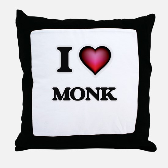 I Love Monk Throw Pillow